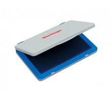 Штемпельная подушка BERLINGO 100х80 мм синяя пластиковая