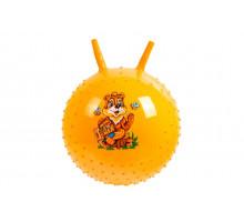 Детский массажный гимнастический мяч, желтый
