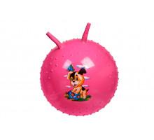 Детский массажный гимнастический мяч, розовый