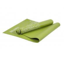 Коврик для йоги и фитнеса 173*61*0,4 с рисунком ГРИН