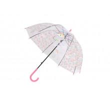 Зонт прозрачный «ЕДИНОРОГ» розовый