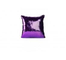 Подушка декоративная «РУСАЛКА» цвет фиолетовый/серебро