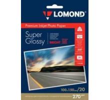 270 г/м2 односторонняя Super Glossy Bright 10х15см фотобумага 20 л. Lomond 1106102