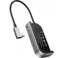 Концентратор Baseus Bend Angle No.7 Type-C to USB 3.0+HDMI+S+ MicroSD+USB-C+AUX 3.5 мм темно-серый C