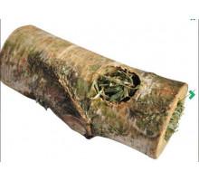 Деревянный туннель Vitapol с сеном для грызунов средний, 15 см.