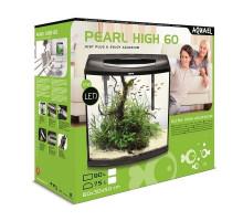 Aquael Аквариум Pearl High 60 черный 60x30x50 см., прямоугольный, 90 л.