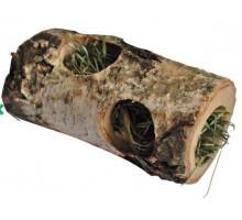 Деревянный туннель Vitapol с сеном для грызунов малый, 10 см.