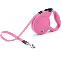 Рулетка Flexi Mini Compact Cat XS лента 3м., 12 кг розовая, шт