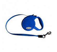 Рулетка Flexi Mini Compact Cat XS лента 3м., 12 кг синяя, шт