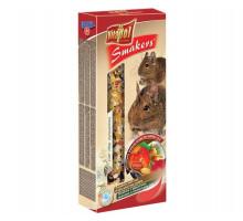 Лакомство Vitapol для дегу Smakers зерновые палочки с фруктами, орехами и лепестками роз, 2 шт 90 г.