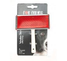 Пуходерка For Friends L металлическая с деревянной ручкой (без капли), 13,5*12 см